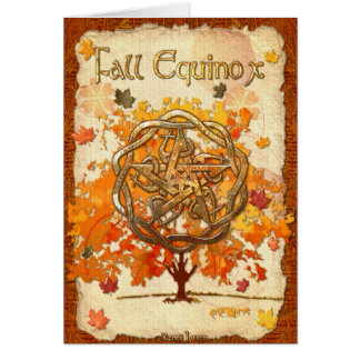 Fall Equinox Pagan Wiccan Card