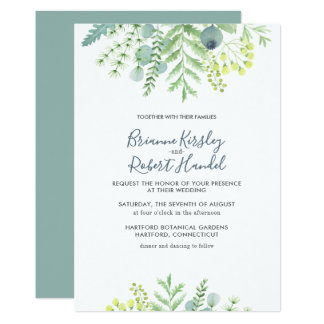 Fall Eucalyptus Foliage Floral Wedding Invitation