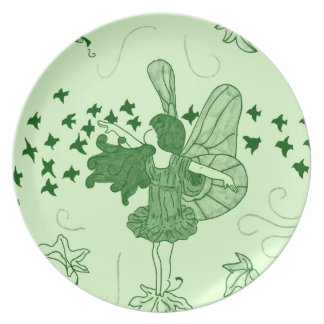 Fall Fairy Plate (Green)