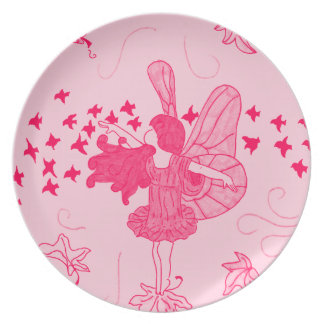 Fall Fairy Plate (Pink)