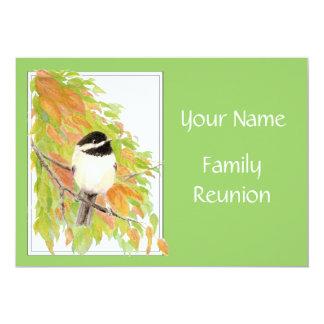 "Fall, Family Reunion Invite, Nature, Bird 5"" X 7"" Invitation Card"