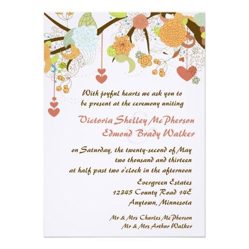 Fall Fantasy Floral Wedding Invitations