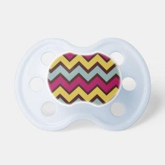 Fall Fashion Chevron Pattern Baby Pacifiers