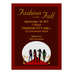 Fall Fashion Show Poster