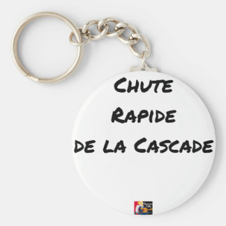 FALL FAST OF the CASCADE - Word games Keychain
