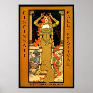 Fall Festival, 1903. Vintage Advertising Poster