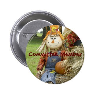 Fall Festival Committee Member - Customized Buttons