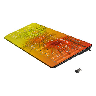 Fall fireworks wireless keyboard