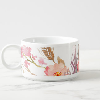 Fall Floral Earth Tones Chili Bowl