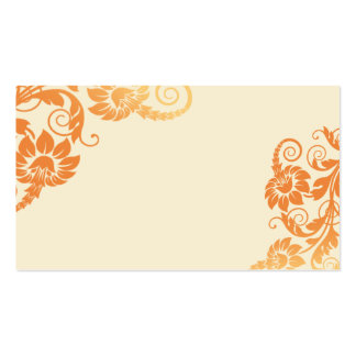 Fall Floral Escort Cards Business Card Templates