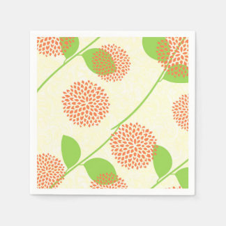 Fall Floral Paper Napkin