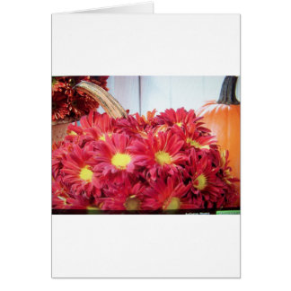 fall flowers card