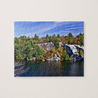 Fall Foliage around Lake Minnewaska Jigsaw Puzzle