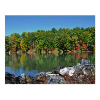 Fall Foliage at Lake James, North Carolina Postcard