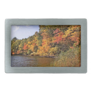 Fall Foliage at Spot Pond Belt Buckle
