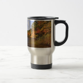 Fall Foliage at Spot Pond Travel Mug