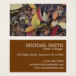 Fall Foliage Autumn Leaves Nature Tree Photography Business Card