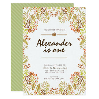 Fall foliage Birthday Invitation