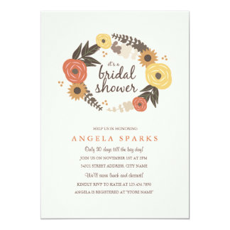 Fall Foliage Bridal Shower Invitation