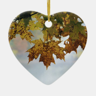 Fall Foliage Ceramic Ornament