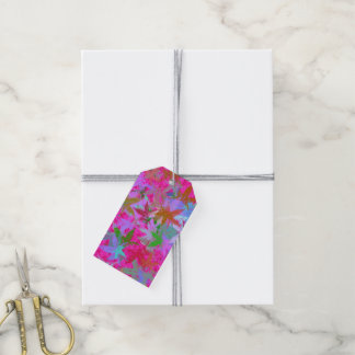 Fall Foliage Hot Pink Pack Of Gift Tags