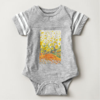 Fall Foliage in Adlershof Baby Bodysuit