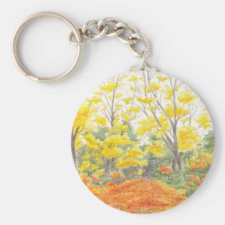 Fall Foliage in Adlershof Keychain