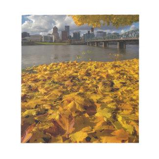 Fall Foliage in Portland Oregon City Notepad