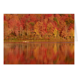 Fall Foliage on the Lake #2 Card