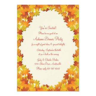 Fall Foliage Oval Invitation
