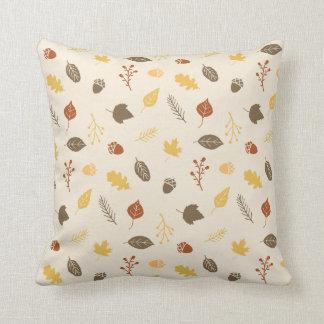 Fall Foliage Pattern Autumn Throw Pillow