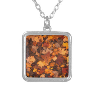 Fall-foliage Silver Plated Necklace