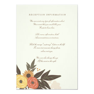 Fall Foliage Wedding Insert card