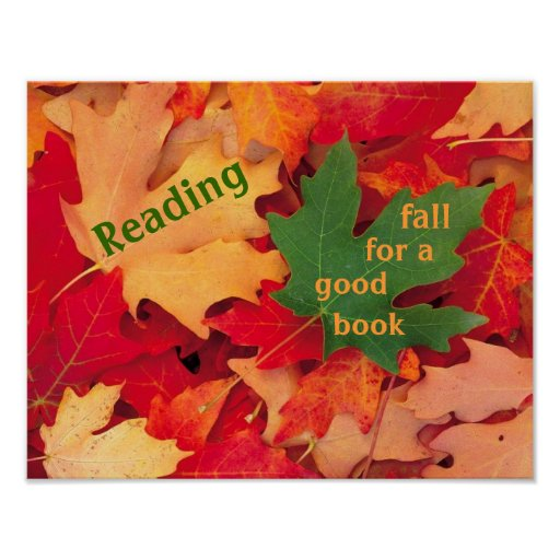 Fall For a Good Book Reading Poster