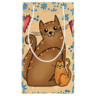 Fall for Cats Small Gift Bag