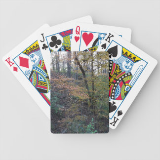 Fall Forest Bicycle Playing Cards