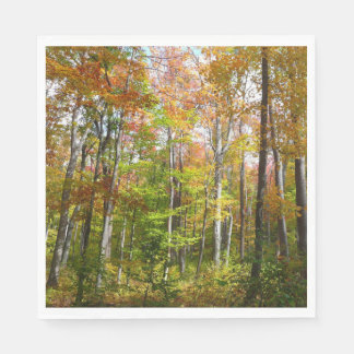 Fall Forest I Autumn Landscape Photography Disposable Napkins