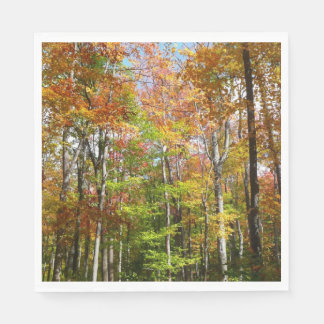 Fall Forest II Autumn Landscape Photography Disposable Napkins