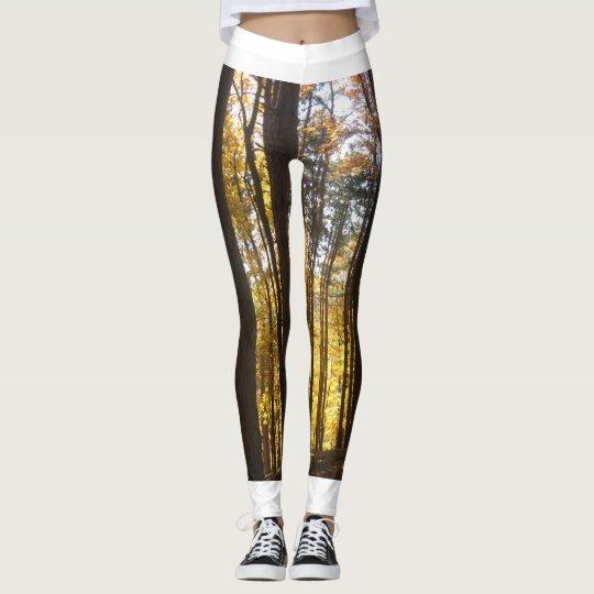 Fall Forest Print Leggings
