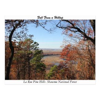 Fall From a Hilltop Postcard