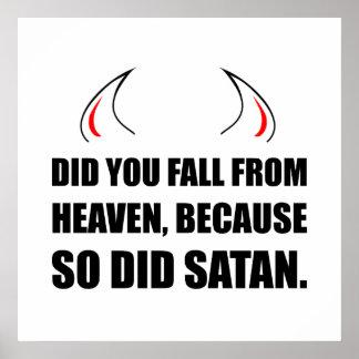 Fall From Heaven Satan Poster