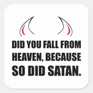 Fall From Heaven Satan Square Sticker