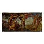 Fall from the Garden of Eden, Fresco, Michelangelo Posters