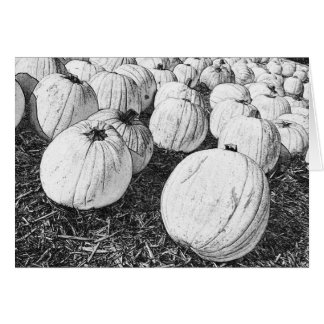 Fall Greeting Card with Pumpkin Sketch Design