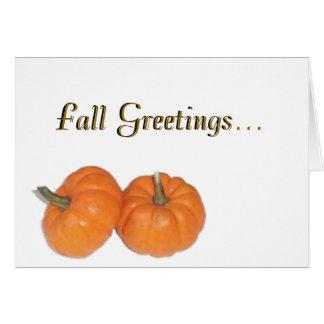 Fall Greetings... Card