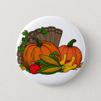 Fall Harvest 2 Inch Round Button