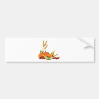 Fall Harvest Illustration Bumper Sticker
