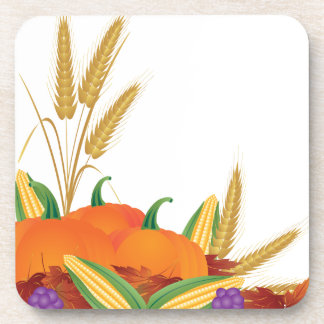 Fall Harvest Illustration Coaster