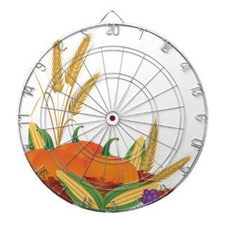Fall Harvest Illustration Dartboard