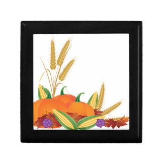 Fall Harvest Illustration Gift Box